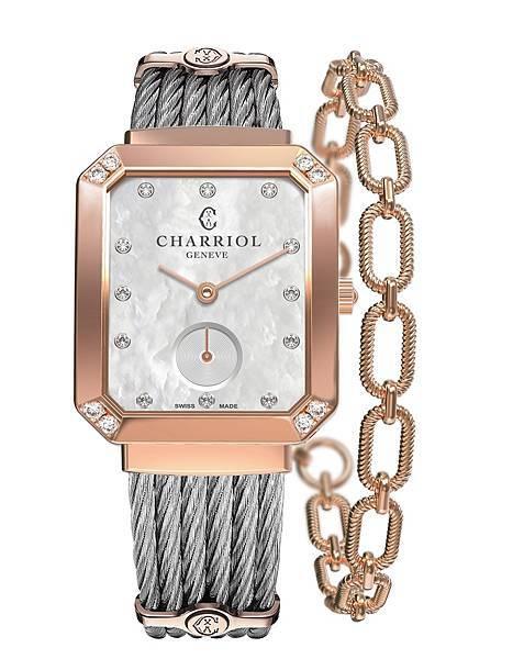 圖3_ ST-TROPEZTM Mansart系列錶款(鍍玫瑰金錶圈款),建議售價NT88,300