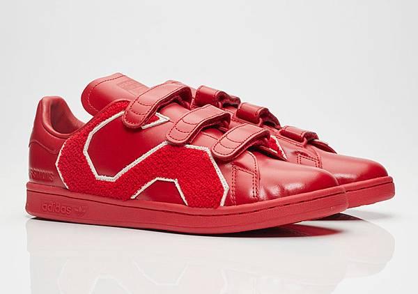 Raf Simons_經典R標誌魔鬼氈紅色休閒鞋_NT16800-2