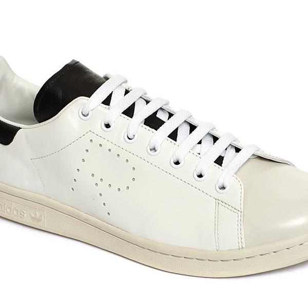 Raf Simons_經典R標誌黑尾白色休閒鞋_NT15800