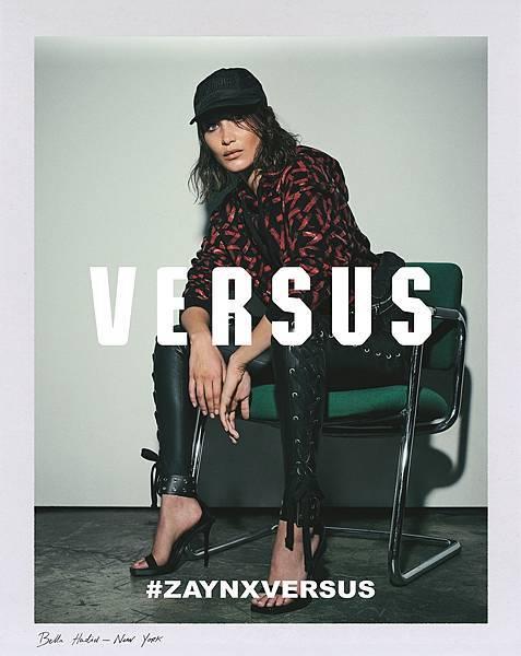 Bella Hadid為Zayn X Versus聯名系列拍攝形象廣告