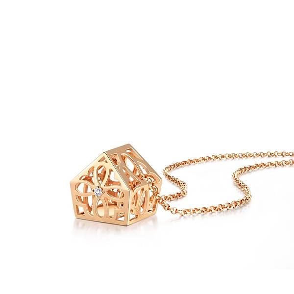 點睛品Love Décodé「愛情密語」18K玫瑰金鑽石頸鍊-建議售價NT$12,800-3