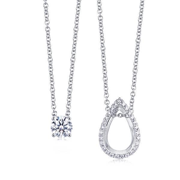 點睛品Infini Love Diamond Iconic 18K白金鑽石頸鍊-主石30分 建議售價NT$73,900起-2