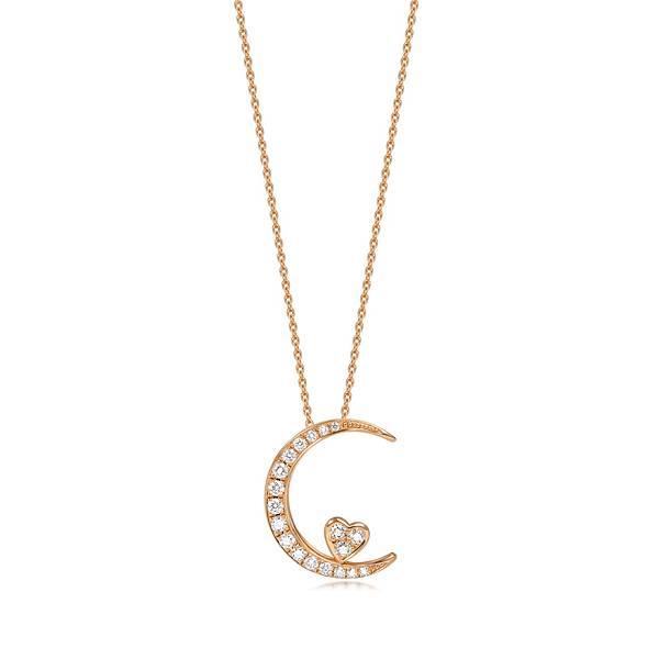 點睛品Love Décodé「愛情密語」18K玫瑰金鑽石頸鍊-建議售價NT$16,200
