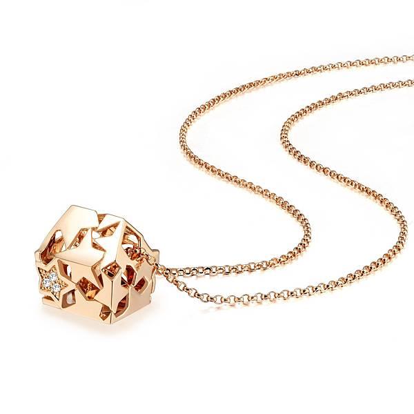 點睛品Love Décodé「愛情密語」18K玫瑰金鑽石頸鍊-建議售價NT$15,800-3