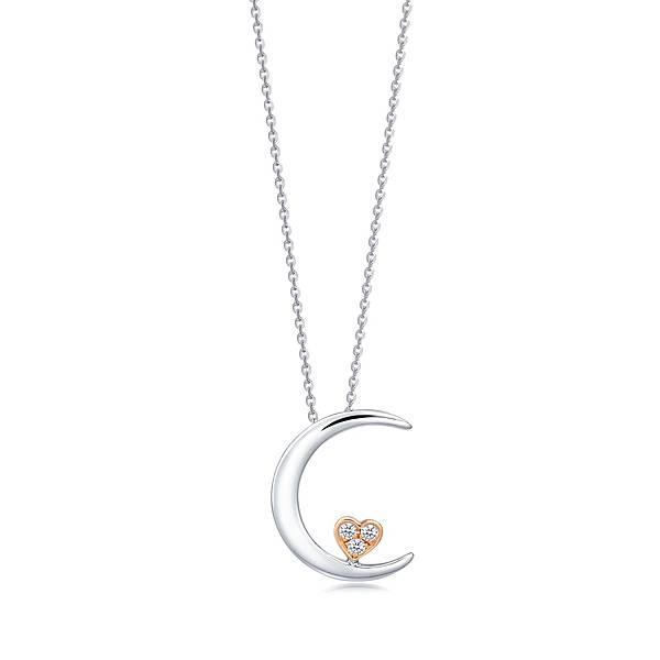 點睛品Love Décodé「愛情密語」18K雙色鑽石頸鍊-建議售價NT$8,700