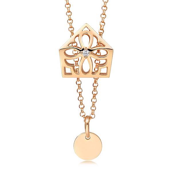 點睛品Love Décodé「愛情密語」18K玫瑰金鑽石頸鍊-建議售價NT$12,800-2