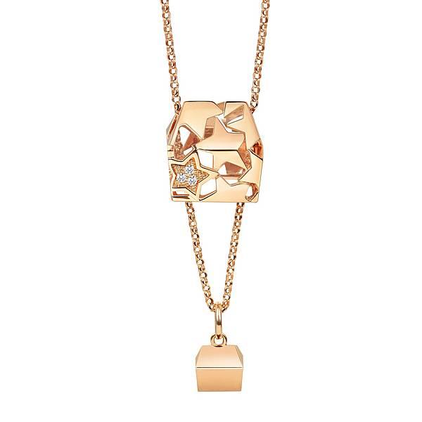 點睛品Love Décodé「愛情密語」18K玫瑰金鑽石頸鍊-建議售價NT$15,800-2