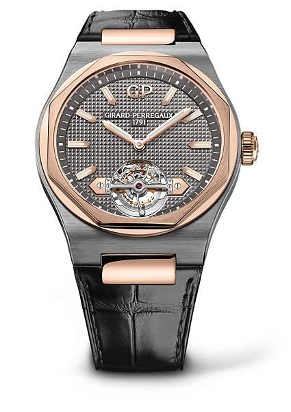 11. Laureato Tourbillon鈦金屬及玫瑰金錶殼_灰錶盤_鱷魚皮_NTD 2,852,000