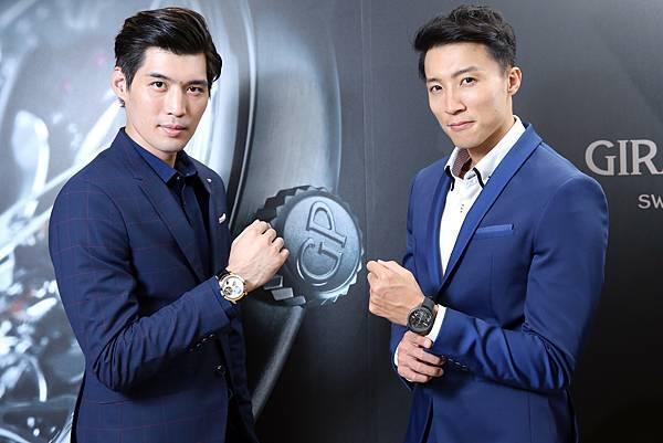 8. 伊林男模邱求新(右)、吳允翰共同展演芝柏表頂級複雜功能腕錶