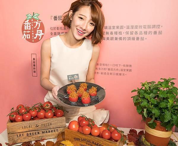 圖4.金色三麥餐廳精選番茄方舟的「天使串番茄」,品嘗美味的在地鮮料理