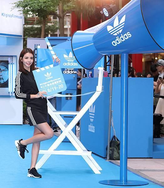 李毓芬出席adidas Originals Film House 三片葉巡迴電影院開幕,穿著全新EQT服裝系列與鞋款-1