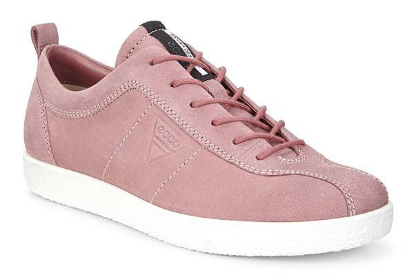 ECCO SOFT 1 系列女鞋_低筒款_粉_$4680