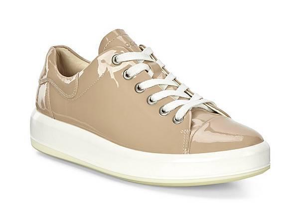 ECCO SOFT 9系列女鞋_鞋帶款_米_$6380