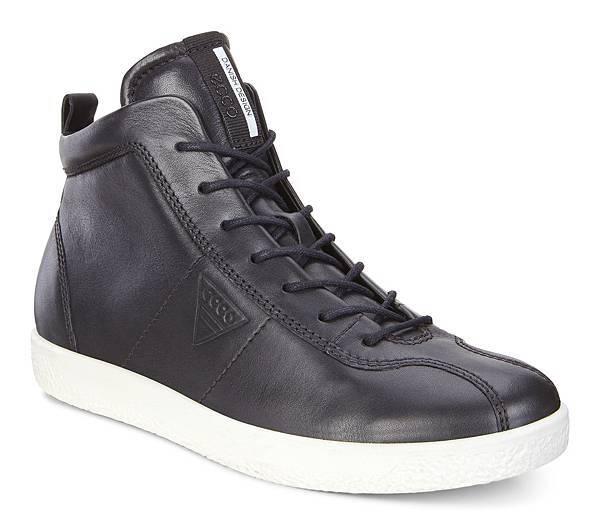ECCO SOFT 1 系列女鞋_高筒款_黑_$5380