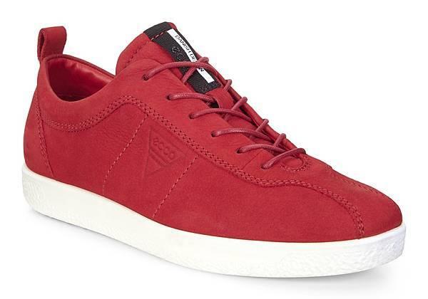 ECCO SOFT 1 系列女鞋_低筒款_紅_$4680