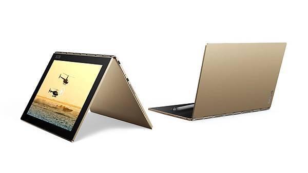 全球最輕薄2 in 1 YogaBook平板筆電 香檳金時尚上市