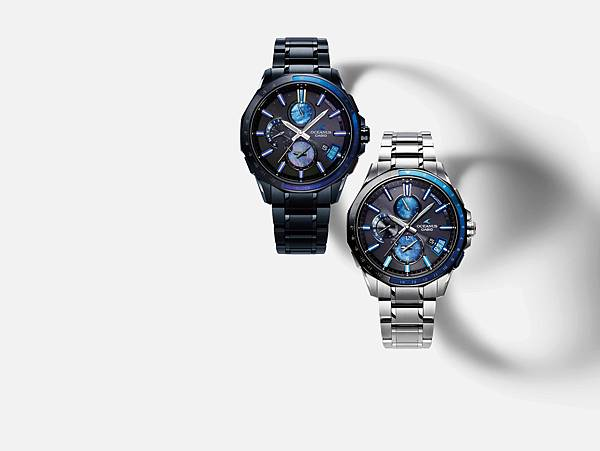 OCEANUS 2017 BASEL限定錶款OCW-G2000 融合日本傳統工藝-釉陶瓷 OCW-G2000S-1A(左) 、OCW-G2000...