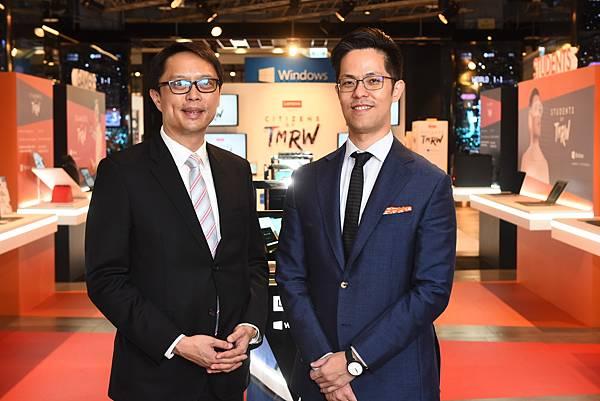 Lenovo中亞太地區區域總經理Ivan及Lenovo聯想家用暨中小企業業務副總Nolan