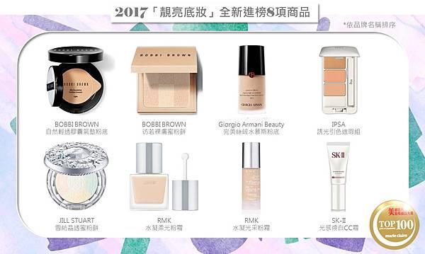 02美妝百大賞-2017「靚亮底妝」全新進榜8項商品