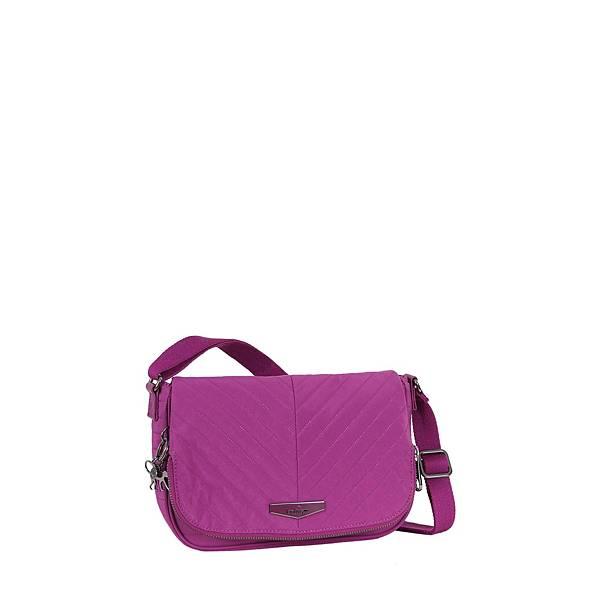 桃紫色行縫斜背包 EARTHBEAT S 建議售價 $4,850