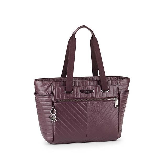 亮面深紫壓紋肩背包 ORINTHIA 建議售價 $6,750
