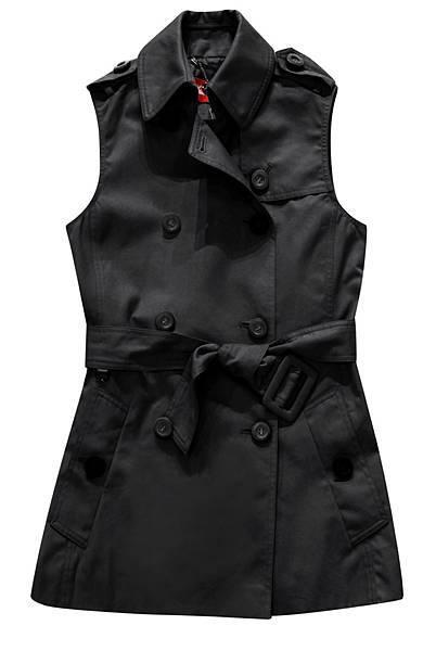 時尚黑超潑水背心風衣_7980元