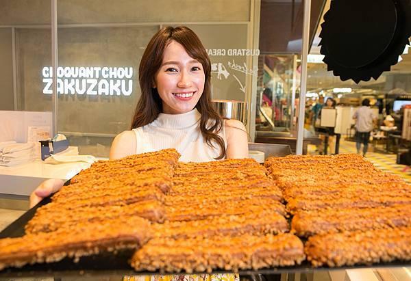 ZAKUZAKU棒棒泡芙的三大特色為「現點現灌卡士達內餡」、「酥脆濃三重奇妙口感」及「獨特棒棒造型」(圖片提供-ZAKUZAKU)