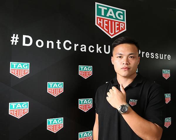 世大運選手鄭兆村配戴TAG Heuer Formula 1計時碼錶
