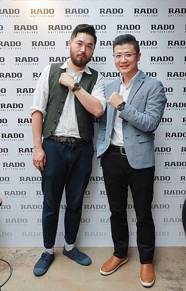 Sense 30創辦人 葉士豪與Rado品牌副總Charles