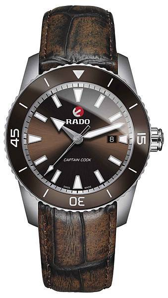 Rado HyperChrome Captain Cook 皓星系列庫克船長腕錶_皮革錶帶_建議售價NTD77,700