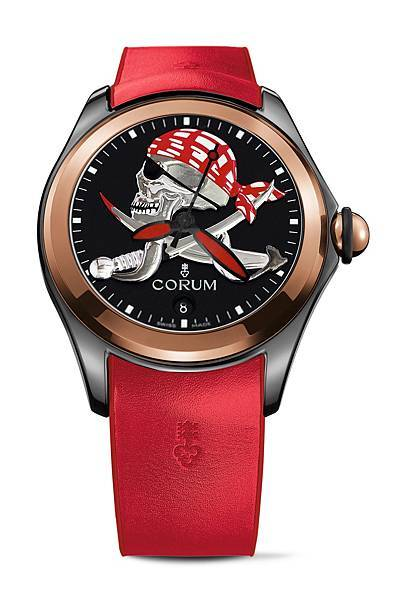 CORUM Bubble 泡泡系列_47 mm Pirate(玫瑰金)_NTD 399,000
