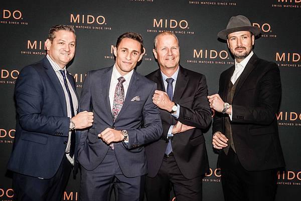 MidoXGuggenheim _美國奧運名將山姆多爾曼與MIDO總裁合影