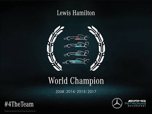 Lewis Hamilton 奪得 F1 生涯第四個年度車手冠軍,讓 2017 年再度成為銀箭車隊大豐收的一年