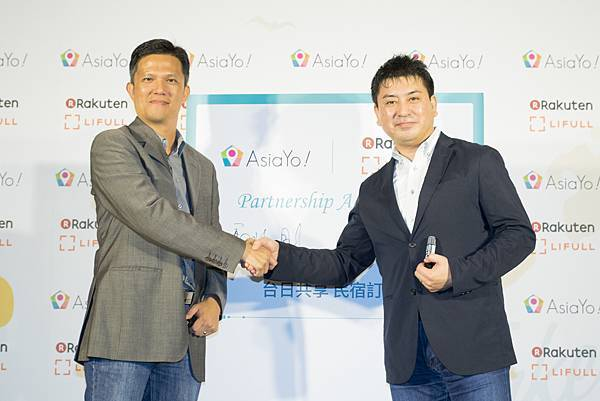 圖一:AsiaYo今(31)日宣布與日本樂天市場新事業體 Rakuten LIFULL STAY攜手結盟,共同耕耘台日雙方民宿市場