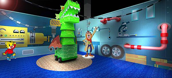 卡歐先生的奇妙屋展區中,能讓小朋友自己能動動手操作好玩有趣的互動遊戲
