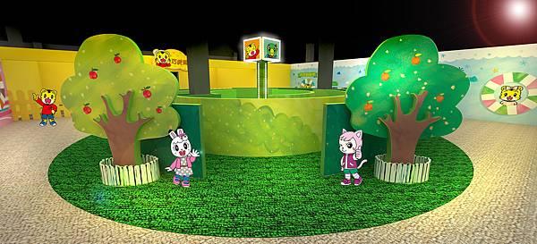 花園迷宮中學習解決問題的能力,氣墊式跳沙坑遊戲以及動動腦的益智翻翻樂等著小朋友們來探索挑戰