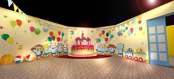 跟巧虎在巧巧幼兒園展區裡一起佈置熱鬧的生日派對做卡片吧!