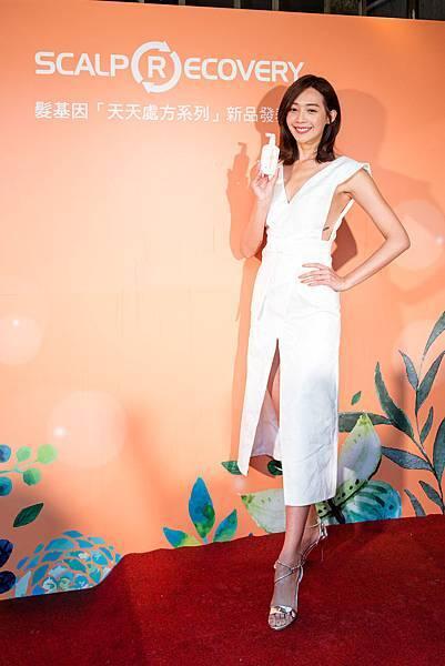 髮基因品牌大使王心恬出席力挺「天天處方系列」上市活動