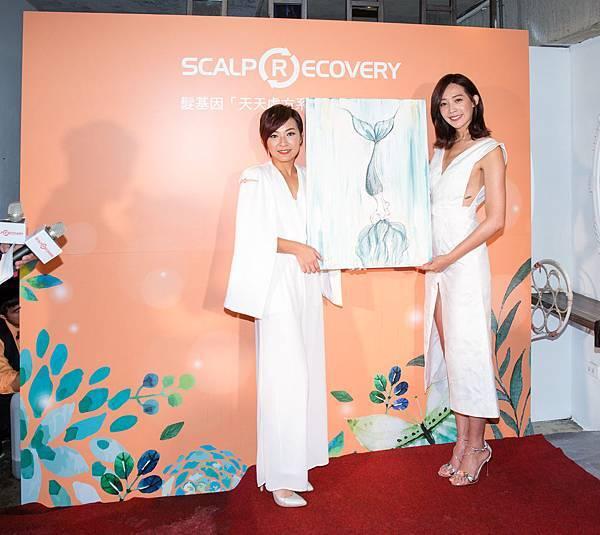 品牌大使王心恬義賣親繪畫作,邀請消費者健康洗髮做公益