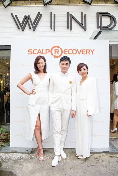 髮基因品牌大使王心恬、活動主持人Sam老師、品牌發言人暨教育總監高夢豫