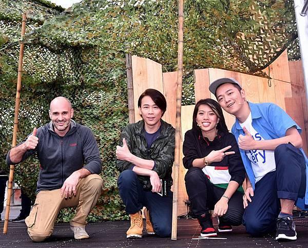 艾德史塔福與陶喆、Miss Ko、Soac PK搭營