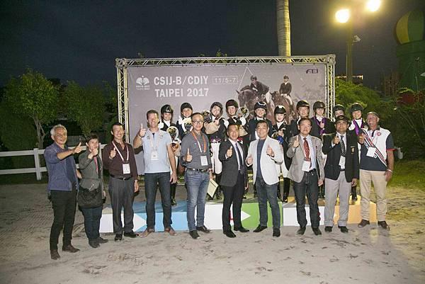2017 CDIY 馬場馬術錦標賽團體賽頒獎典禮大合照