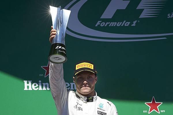 Mercedes-AMG Petronas Motorsport車隊的Valtteri Bottas於巴西站排位賽順利取得桿位,正賽則奪得第二佳績