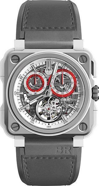 BR-X1 Tourbillon White-Hawk 鏤空陀飛輪計時碼錶 限量20只,建議售價NT$5,780,000