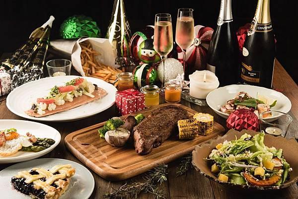 Buttermilk摩登美式餐廳-瘋聖誕迎跨年四人分享套餐-圖片提供-台北中山意舍酒店