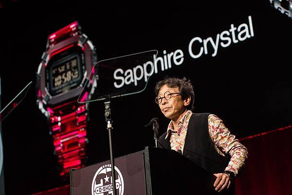 G-SHOCK之父伊部菊雄在記者會中首度公開全新技術商品Sapphire Crystal系列 全錶採用堅硬又美觀的藍寶石水晶打造_Photo Credit_ Ryan Muir