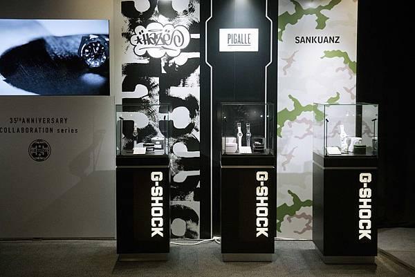 G-SHOCK 與Eric Haze、PIGALLE、上官喆SANKUANZ所推出的限量聯名錶款(左至右)_Photo Credit_ Ryan Muir