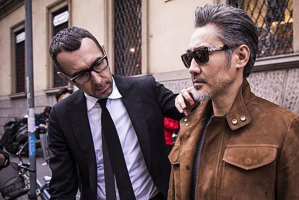 8.品牌藝術總監Alessandro Sartori亦參與拍攝工作,精心打造吳秀波紳士風格