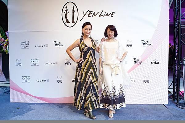 6.藝人高欣欣(左)與兵家綺(右)現身力挺2017台北魅力展