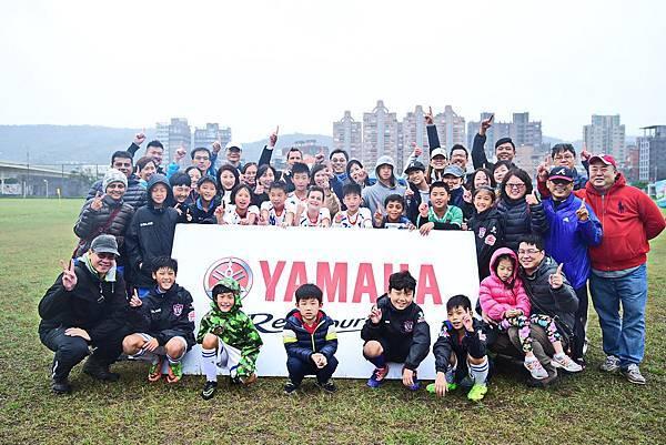 UNITY連續兩年晉級YAMAHA CUP決賽,圖為全體球員與熱心參與的家長